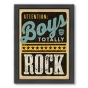 "Americanflat ""Boys Rock"" Framed Wall Art"