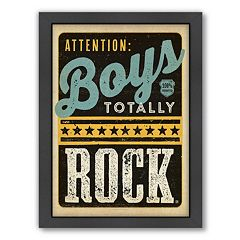 Americanflat 'Boys Rock' Framed Wall Art