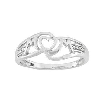 Diamond Accent Sterling Silver Heart