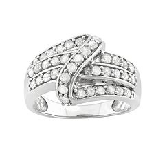 1 Carat T.W. Diamond Sterling Silver Swirl Ring