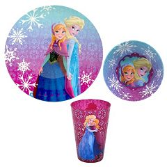 Disney's Frozen Anna & Elsa 3 pc Plate Set by Jumping Beans®