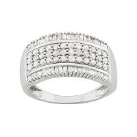 1 Carat T.W. Diamond Sterling Silver Ring