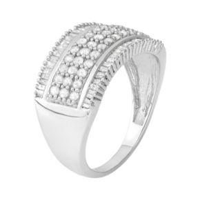1 Carat T.W. Diamond Sterling Silver Ring