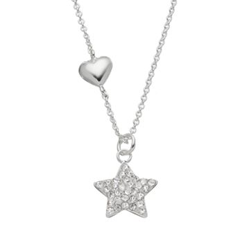 Crystal Silver-Plated Star Pendant Necklace