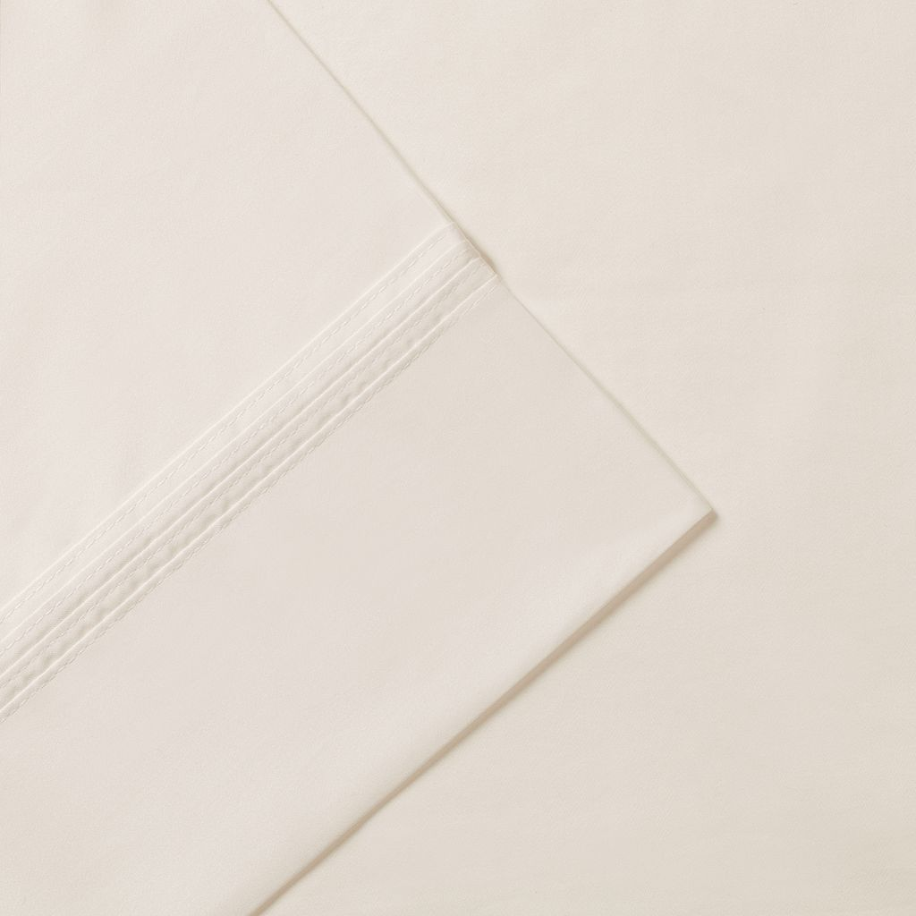 Madison Park Signature Solid 600-Thread Count Pima Cotton Deep-Pocket Sheets