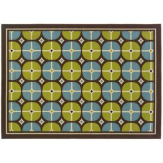 StyleHaven Cayman Circles Indoor Outdoor Rug