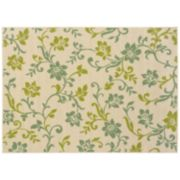 StyleHaven Cayman Floral Scroll Indoor Outdoor Rug