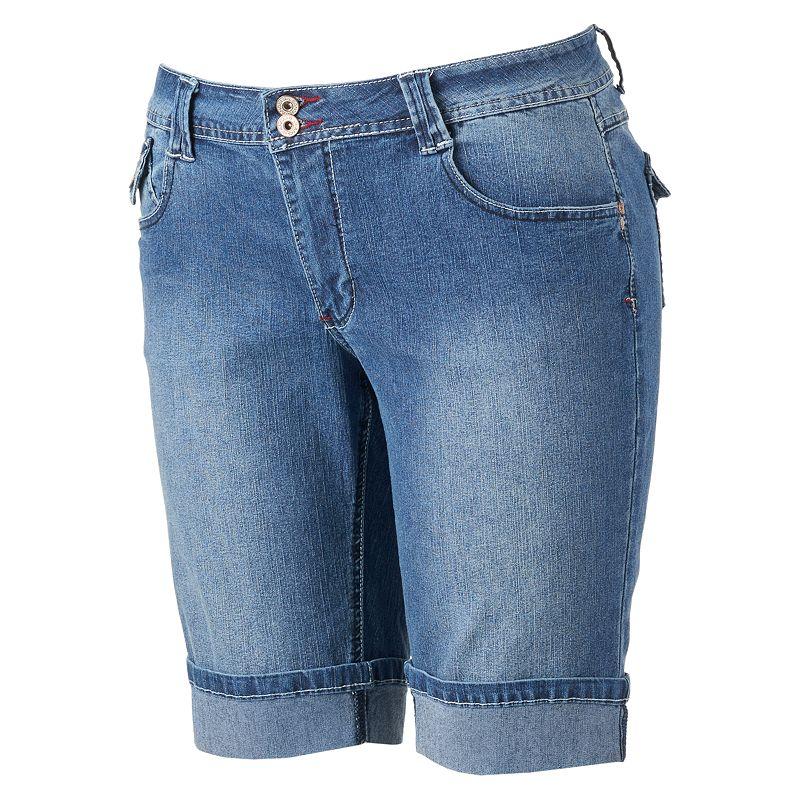 Angels Embroidered Bermuda Shorts - Juniors' Plus