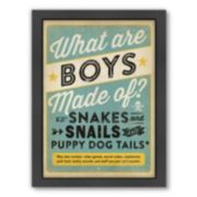 Americanflat ''Boys Are Made Of'' Framed Wall Art