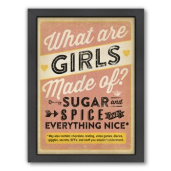 Americanflat ''Girls Are Made Of'' Framed Wall Art