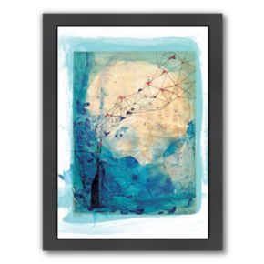 Americanflat Paula Mills ''Blue Collage Archival'' Framed Wall Art