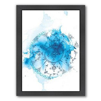 Americanflat Paula Mills ''Blue Plate Wash'' Framed Wall Art