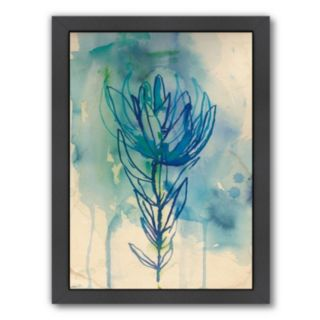 Americanflat Paula Mills ''Blue Wash Protea'' Framed Wall Art