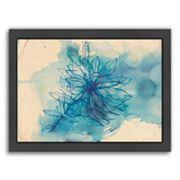 Americanflat Paula Mills ''Blue Wash Wild Flower'' Framed Wall Art