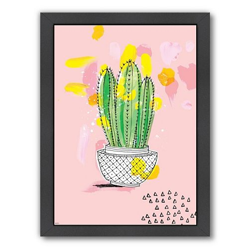 Americanflat Paula Mills ''Cactus'' Framed Wall Art