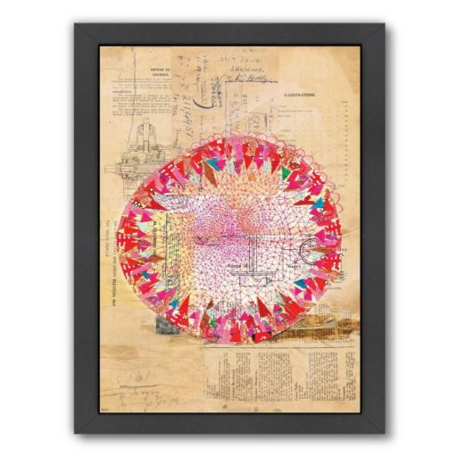 Americanflat Paula Mills ''Circle Collage'' Framed Wall Art