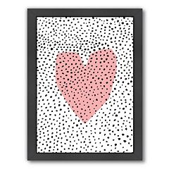 Americanflat Paula Mills ''Dotty Heart'' Framed Wall Art