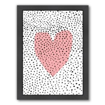 Americanflat Paula Mills ''Dotty Heart'' Framed Wall Art