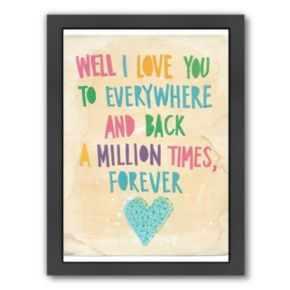 Americanflat Paula Mills ''Everywhere And Back'' Framed Wall Art