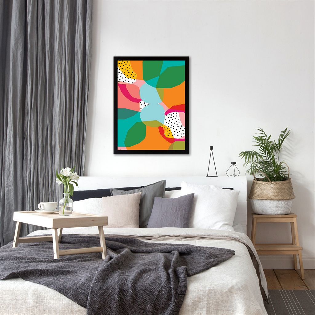 Americanflat Paula Mills ''Geometric Shapes'' Framed Wall Art