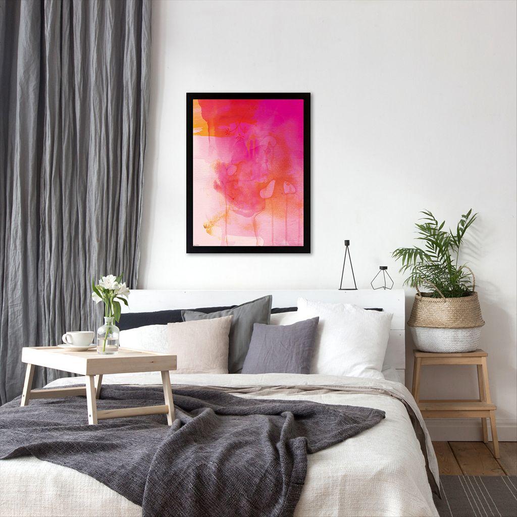 Americanflat Paula Mills ''Golden Pink Wash'' Framed Wall Art