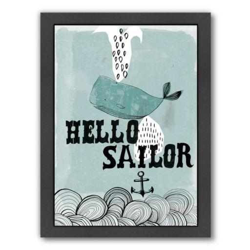 Americanflat Paula Mills ''Hello Sailor'' Framed Wall Art