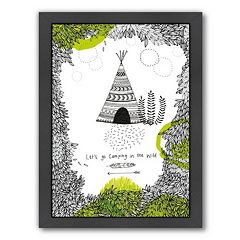 Americanflat Paula Mills ''Let's Go Camping'' Framed Wall Art