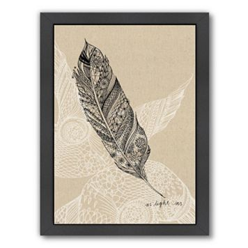 Americanflat Paula Mills ''Light As A Feather'' Framed Wall Art