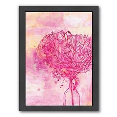 Americanflat Paula Mills ''Painted Peony'' Framed Wall Art