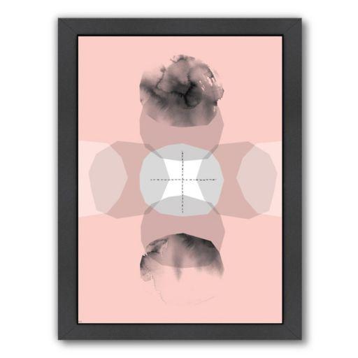 Americanflat Paula Mills ''Pale Cross Journey'' Framed Wall Art