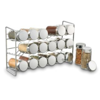 Polder Stainless Steel Compact Spice Jar Rack