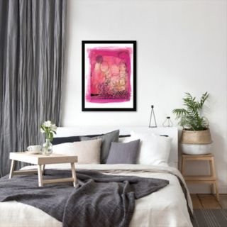 Americanflat Paula Mills ''Pink Collage'' Framed Wall Art