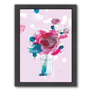 Americanflat Paula Mills ''Pink Flowers 2'' Framed Wall Art