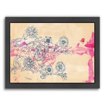 Americanflat Paula Mills ''Pink Ink Study'' Framed Wall Art