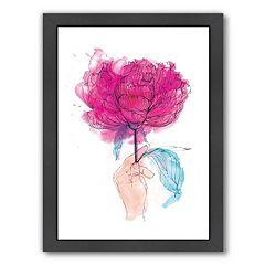 Americanflat Paula Mills ''Rose'' Framed Wall Art