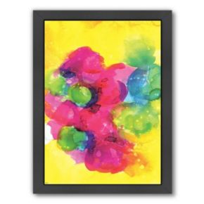 Americanflat Paula Mills ''Sunshine Yellow'' Framed Wall Art