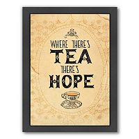 Americanflat Paula Mills ''Tea And Hope'' Framed Wall Art