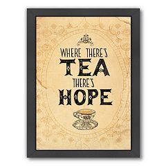 Americanflat Paula Mills ''Tea And Hope'' Framed Wall Art