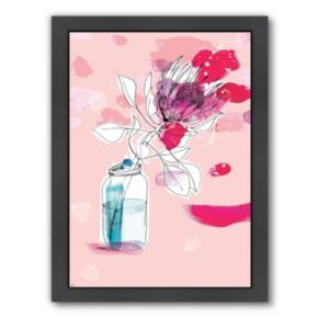 Americanflat Paula Mills ''Vast Flower'' Framed Wall Art