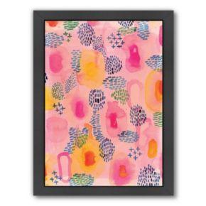 Americanflat Paula Mills ''Watercolour Patterns'' Framed Wall Art