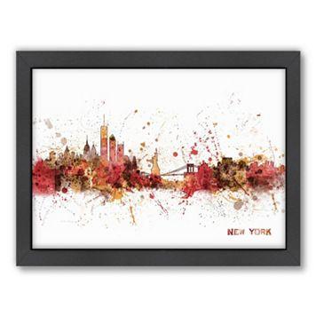 Americanflat Michael Tompsett ''New York Skyline V'' Framed Wall Art
