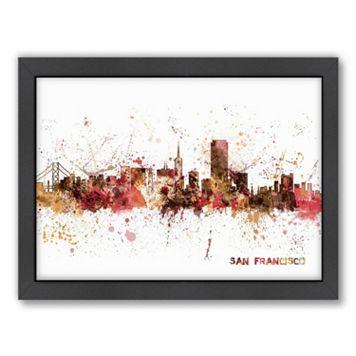 Americanflat Michael Tompsett ''San Francisco Skyline'' Framed Wall Art