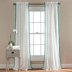 Lush Decor Pom Pom Window Curtain - 50'' x 84''