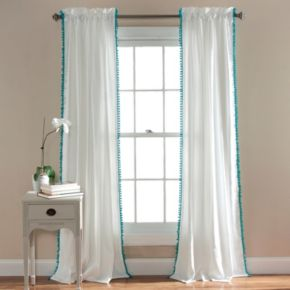 Lush Decor Pom Pom Window Curtain - 50'' x 84''