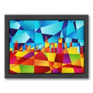Americanflat Michael Tompsett ''Chicago Skyline'' Framed Wall Art