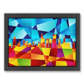 Americanflat Michael Tompsett ''Chicago Skyline'' Framed Wall Art