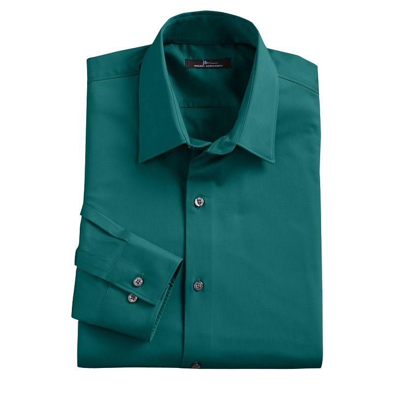 Spandex front button shirt kohl 39 s for Tony collar dress shirt