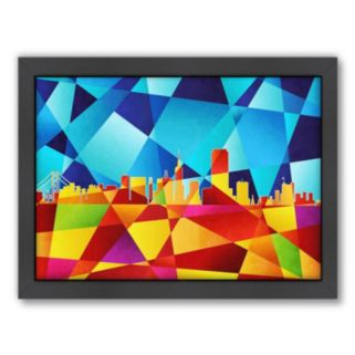Americanflat Michael Tompsett ''San Francisco Skyline'' Framed Wall Art