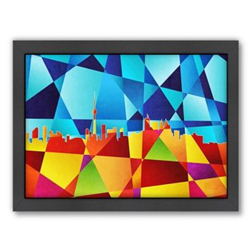 Americanflat Michael Tompsett ''Toronto Skyline'' Geometric Framed Wall Art