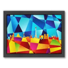Americanflat Michael Tompsett ''Paris Skyline IV'' Framed Wall Art